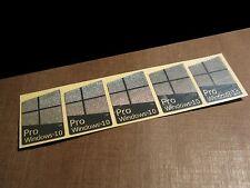 5 PCS Windows 10 Pro Chrome Badge Metal Sticker for Computer Laptop 16mm x 23mm
