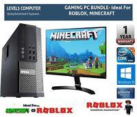 GAMING PC BUNDLE FAST DELL CORE i5 16GB RAM 2TB WINDOWS 10 COMPUTER DESKTOP - SP