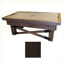 Dark Maple Dynamo Rustic Air Hockey Table