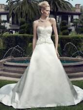 Casablanca 2152 Strapless Aline Ivory Beaded Wedding Dress Bridal Gown 16