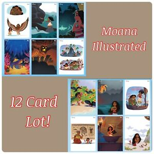 🏝DIGITAL🏝 DISNEY COLLECT Trader MOANA Illustrated Adventures 12x CARD Lot