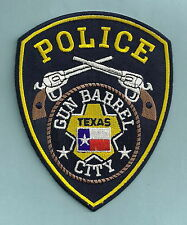 GUN BARREL CITY TEXAS POLICE PATCH