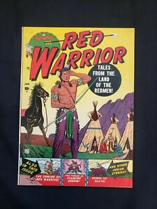 RED WARRIOR (VF+) ISSUE #1, THE THREAT OF THE FLAMING ARROW! 1951