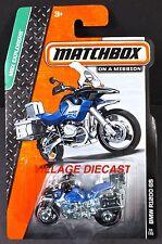 2014 Matchbox #38 BMW R1200 GS BLUE/BLACK/MOC