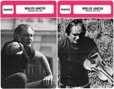 FICHE CINEMA x2 : MIKLOS JANCSO DE 1954 A 1978 -  Hongrie (Biographie/Filmo)