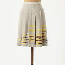 Anthropologie Linen Skirt Size 10P