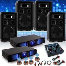 PA System Fastnacht Karnevalswagen 4x Boxen 2x Verstärker USB MP3 Big Light