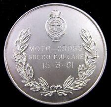 1981 Greek-Bulgarian Motocross 250cc Participant Sport medal