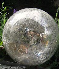 12 cm Frostsicher Glas Kugel Glaskugel Lightball silber antik Bauernsilber Glas