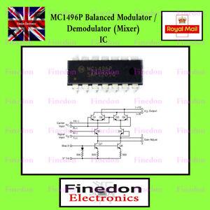 MC1496P Four Quadrant Balanced Multiplier Mixer Modulator DIL IC On Semi UK