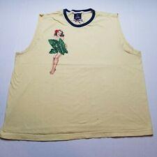 Tommy Hilfiger Men Tank Top XL Yellow Shirt Hawaii Beach Luau Babe Sleeveless R2