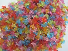 1000 x BUTTERFLY BEADS Acrylic mixed colours 15mm wingspan