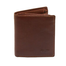 Hansson - Brown Italian Leather Card Wallet with Coin Purse and RFID Protection