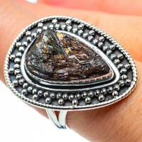 Large Astrophyllite 925 Sterling Silver Ring Size 8.5 Ana Co Jewelry R30324F