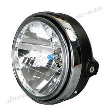 12V Chrome Halogen Headlight Headlamp For Honda CB400 CB500 1300 Hornet 250 600