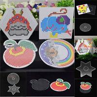 Clear Perler Hama Beads Peg Board Pegboard Template Funny DIY Creative Toy Craft