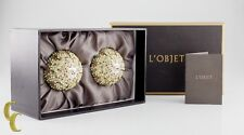 L'Objet 24k Gold Plated Salt and Pepper Shaked with Swarovski Crystals