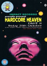 HARDCORE HEAVEN Rave Flyer Flyers A4 28/10/94 Rhythm Station Aldershot