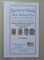 1/350-1/720 USS Forrestal Class CVA59/60/62 1960-1980s for Revell Decals