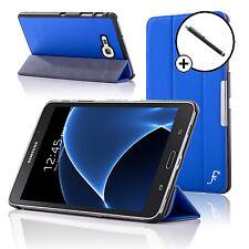 Leather Blue Folding Smart Case Cover Samsung Galaxy Tab A 7.0 SM-T280 Stylus