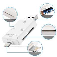1x 3 en1 USB 2.0 Adaptateur OTG Lecteur Carte Micro SD Pr iphone ipad Caméra NF