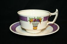 Vintage Wedgwood Directoire PURPLE Band Cup & Saucer Etruria England China