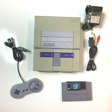 Working - Super Nintendo SNES Original System Console w/ Mario World!