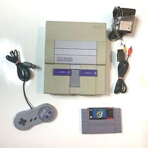 Working - Super Nintendo SNES Original System Console w/ Mario World!