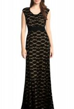 """""""MERINA"""" STUNNING LADIES BLACK LACE SIZE 14 FORMAL EVENING BALL GOWN COCKTAIL"""