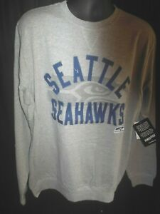 Seattle Seahawks Men's G-III Crew Neck Embroidered Light Weight Crew Sweatshirt