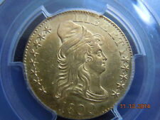 1800 DRAPED BUST 5.00 GOLD HALF EAGLE, PCGS GRADED UNC DETAILS! BEAUTIFUL COIN