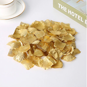 1000Pcs Fake Silk red Rose Petals Wedding Flower romantic hotel room bed decor