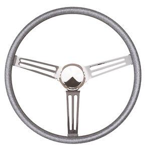 "15"" Mooneyes California Slot Spoke Steering Wheel Silver Metal Flake GS210FGSL"