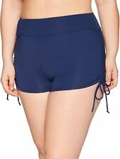 Beach House Womens Swimwear Navy Blue Size 24W Plus Ruched Short Bottom $58 469