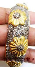 925 Victorian Design Wedding Style Bangle 6.94Ct Antique Rose Cut Diamond Silver