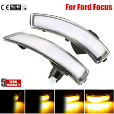 Pair Dynamic Sequential LED Turn Signal Light Mirror Indicator For Ford Focus