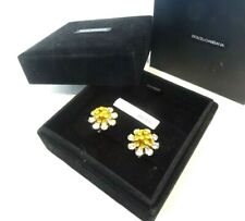 New - Dolce & Gabbana Floral Crystal Earrings