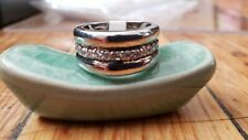 Sterling Silver 925 CUBIC ZIRCONIA RING #7 , 9.6 grams