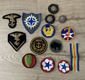 Lot Of 14 Miscellaneous Vintage US Military Patches War Correspondent