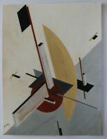 Russian Avant Garde Painting Suprematism Scketch Sign El Lissitzky