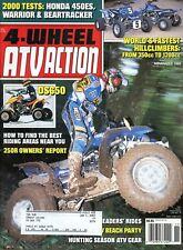 4 Wheel ATV Action Magazine November 1999 Honda 450ES, Warrior & Beartracker