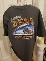 "Vintage Harley Davidson ""Buffalo"" Mens XXL Shirt Jackson Hole Wyoming"