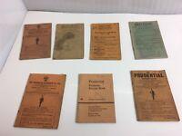 Vintage Prudential Assurance Co. & Britannic Premium Receipt books
