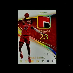 Panini Immaculate Collegiate Isaac Okoro  /3 MINT RC Patch SSP Cavs rookie