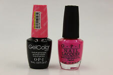 (GCN36 + NLN36) - OPI GELCOLOR + NAIL LACQUER  - HOTTER THAN YOU PINK 0.5oz