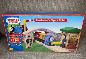 NEW Thomas & Friends Wooden Railway Conductors Figure 8 Set 2002 Sir Topham Hatt