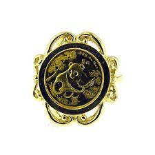 14 KT YELLOW GOLD PANDA COIN RING