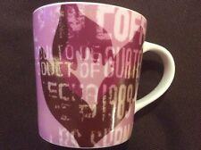 "Starbucks Coffee Mug ""Product of Guatemala"" Pink & Maroon Cup Mug 2006"