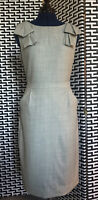 J Crew Suits Gray Tailored Wool Sheath Career Dress 6T Shoulder Detail Markle