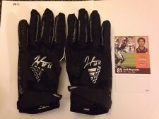 Josh Reynolds Texas A&M Autographed Game Used Receiver Gloves!! W/ Extra